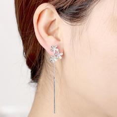 En forme de fleur Alliage Cristal avec Imitation cristal Femmes Boucles d'oreille de mode (Vendu dans une seule pièce)