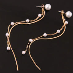 Stylish Alloy Imitation Pearls Women's Earrings