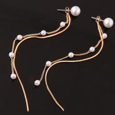 Stilvoll Legierung Faux-Perlen Frauen Ohrringe