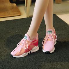 Frauen Stoff Lässige Kleidung Outdoor Wandern mit Zuschnüren Schuhe