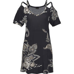 Print Short Sleeves/Cold Shoulder Sleeve Shift Above Knee Casual/Boho/Vacation Dresses