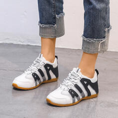 Women's Leatherette Casual Outdoor Athletic With Lace-up shoes