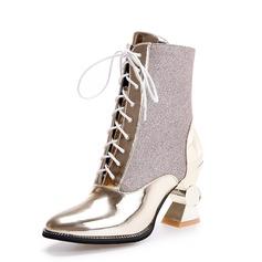 Femmes Similicuir Talon bottier Bottines chaussures