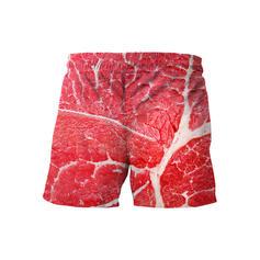 Menn Print Stort shorts Badedrakt