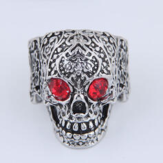 Skull Halloween Alloy With Rhinestones Rings