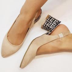 Femmes PU Talon stiletto Escarpins Bout fermé avec Élastique chaussures