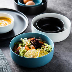Solid Round Porcelain Bowls