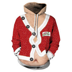 Unisexe Polyester Spandex Inmprimé Sweat de Noël