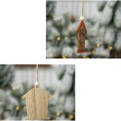 god jul Snømann reinsdyr nisse hengende Tre Julevedheng Trehengende ornamenter (Sett med 2)