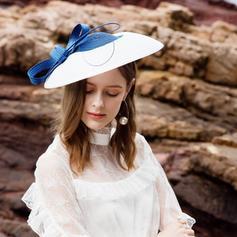 Dames Beau/Élégante Polyester avec Feather Disquettes Chapeau