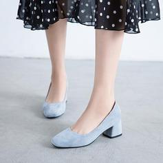 Donna Camoscio Tacco spesso Stiletto scarpe