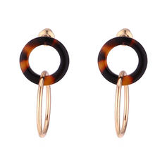Simple Alloy Acrylic With Acrylic Women's Fashion Earrings (Set of 2)