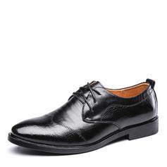 Zuschnüren Lässige kleidung Arbeit Kunstleder Herren Herren-Oxford-Schuhe