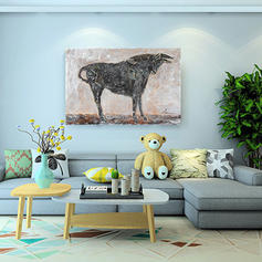 Modern Rectangle Animal Paintings