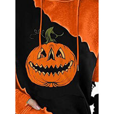 Halloween Tisk S kapucí Dlouhé rukávy Hanorac