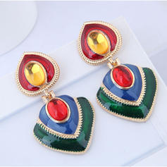 Exotic Alloy Women's Fashion Earrings (Set of 2)