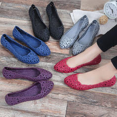 Women's Fabric Flat Heel Flats With Hollow-out shoes