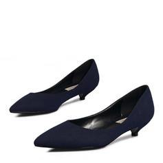 婦人向け スエード ローヒール ポンプ クローズトゥー とともに その他 靴