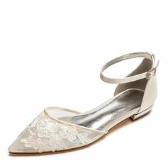 Vrouwen Mesh Flat Heel Closed Toe Flats met Van Toepassing