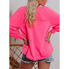 Print Figur One Shoulder Lange ærmer Sweatshirts