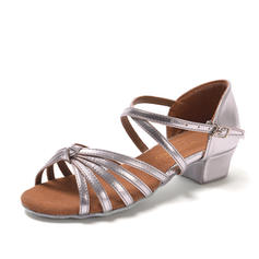 Women's Latin Sandals Leatherette With Buckle Hollow-out Latin