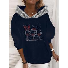 Flitterek Hosszú ujjú Karácsonyi pulóver