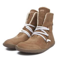 Kvinnor PU Flat Heel Platta Skor / Fritidsskor Stövlar Boots med Bandage skor
