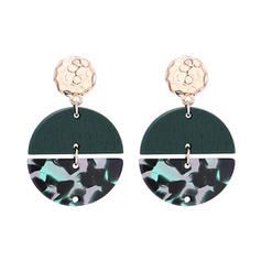 Stylish Alloy Wood Women's Fashion Earrings