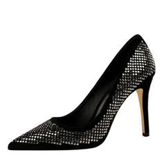 Women's Velvet Stiletto Heel Pumps With Hollow-out shoes