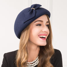 Damer' tappning utformar Ull med Bowknot Basker Hat