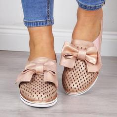 Kvinder PU Flad Hæl Fladsko med Bowknot sko