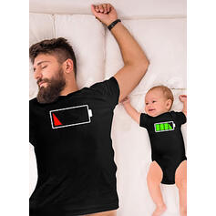 Daddy and Me Cartoon Matching T-Shirts