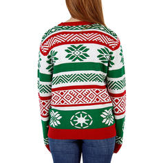 13d1ef90ba1f Polyester Round Neck Print Ugly Christmas Sweater (1002252681 ...