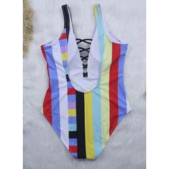Stripe Strap Sexy One-piece Swimsuits