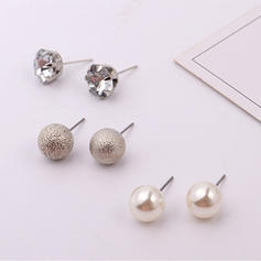 Unique Alloy Rhinestones Imitation Pearls With Imitation Pearl Rhinestone Women's Earrings (Set of 9)