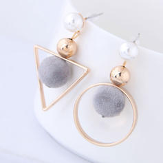élégant Alliage De faux pearl avec Perle d'imitation Femmes Boucles d'oreilles (Lot de 2)