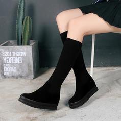 Femmes Suède Talon plat Chaussures plates Plateforme Bottes Bottes hautes avec Autres chaussures