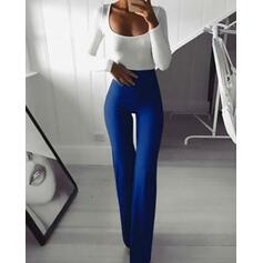 Sólido Largo Casual Sexy Deportivo Pantalones