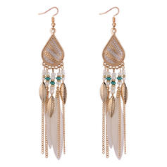 Exquisite Sexy Alloy With Feather Imitation Stones Earrings