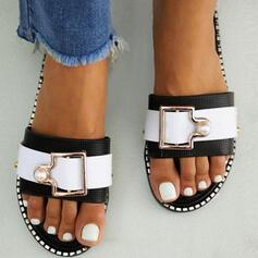 Dámské PVC Placatý podpatek Sandály S otevřenou špičkou Pantofle S Přezka obuv