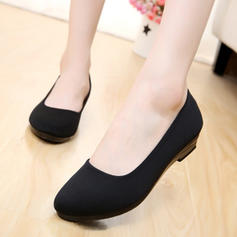 Women's Fabric Low Heel Flats With Others shoes