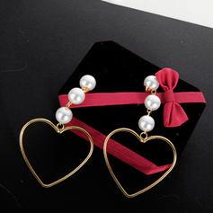 À la mode Alliage De faux pearl Dames Boucles d'oreille de mode