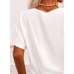 Minta V-nyak Rövidujjú Μπλουζάκια