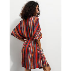 Striped 1/2 Sleeves/Batwing Sleeves Sheath Above Knee Casual/Boho/Vacation Dresses