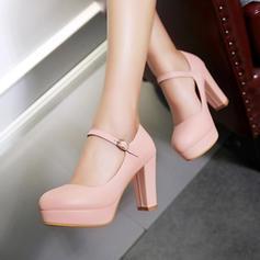Naisten Keinonahasta Chunky heel Avokkaat jossa Solki kengät