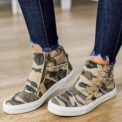 Women's PU Casual Outdoor With Animal Print Zipper Lace-up shoes