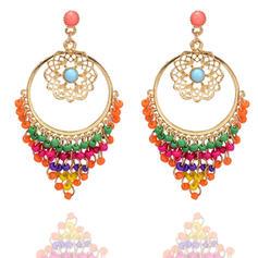 På mode Legering Imiteret Pearl med Imiteret Pearl Ladies ' Mode øreringe