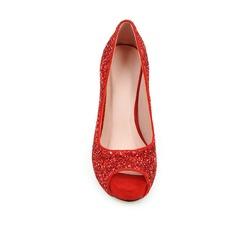 Women's Sparkling Glitter Stiletto Heel Pumps Peep Toe With Sparkling Glitter shoes