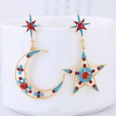 En forme d'étoile Alliage Strass avec Strass Femmes Boucles d'oreille de mode (Lot de 2)