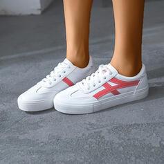 Femmes PU Décontractée De plein air avec Dentelle chaussures